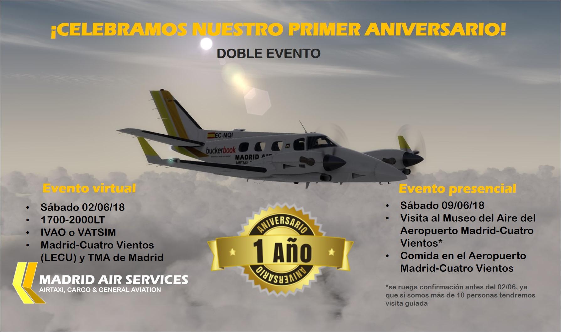 Evento 1º Aniversario Madrid Air Services Aniversario