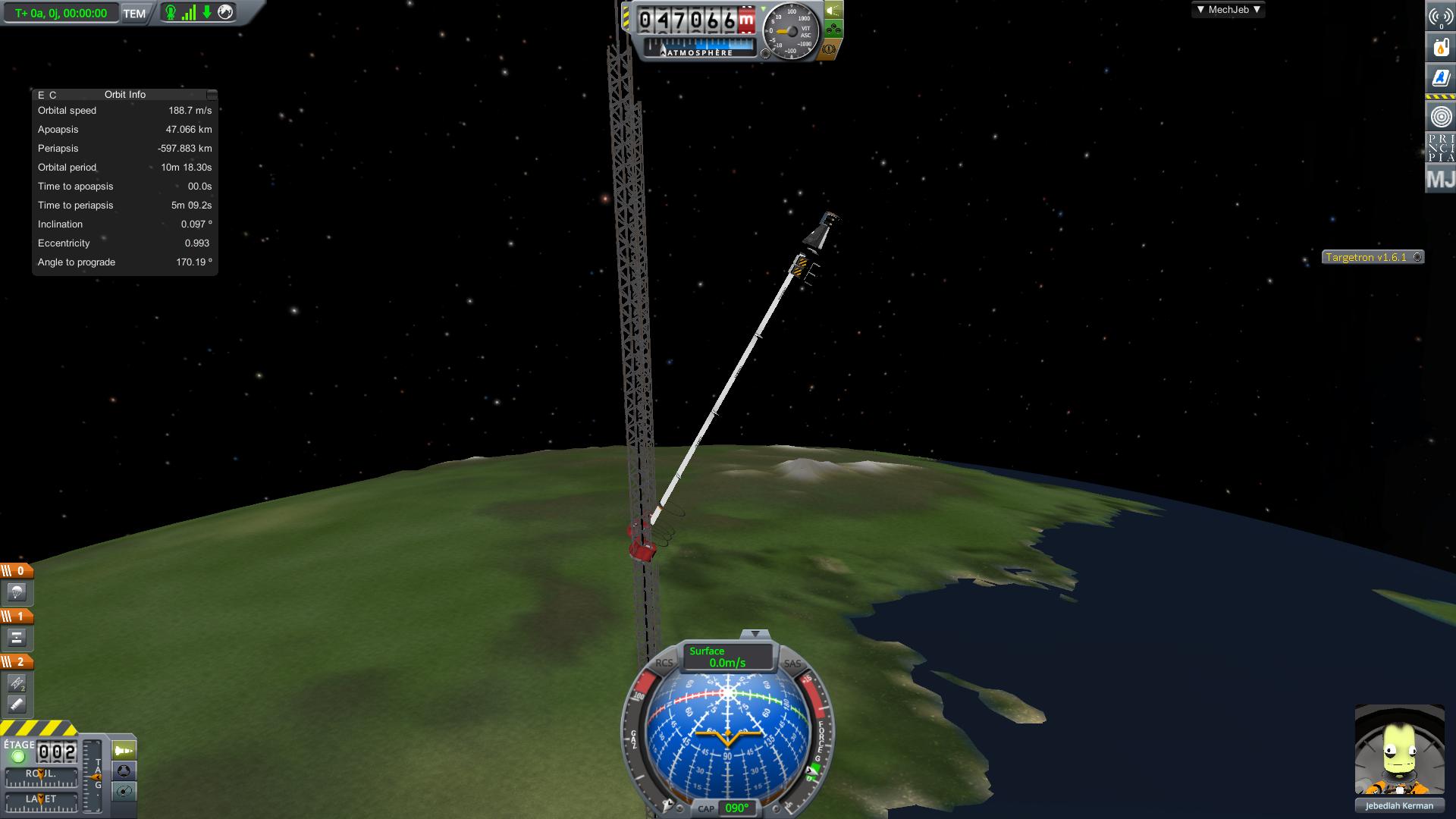 Lancement du défi balade en booster sur une structure haute