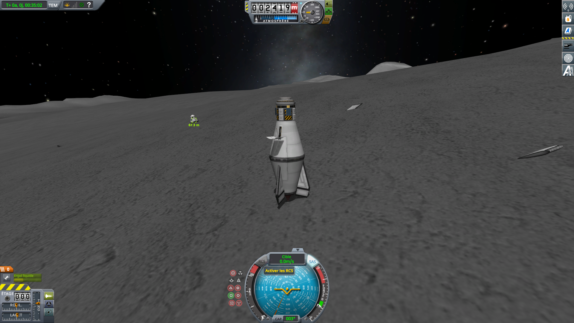 sauvetage sur la Lune