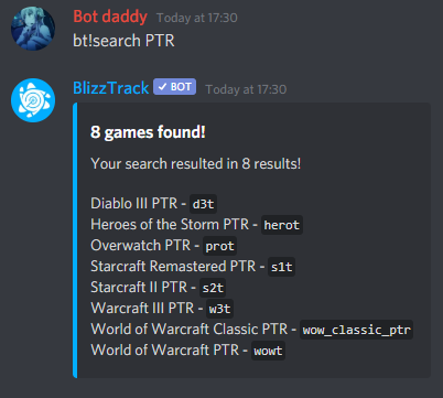Example of bt!search PTR