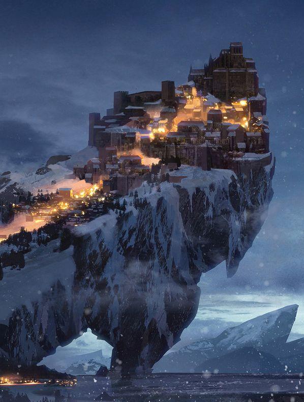 Daugran: Ciudades  y Paises 06d6beee43ba6c78fee1f4eb41e2cde8--fantasy-winter-town-city-fantasy