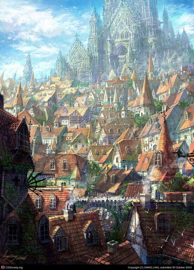 Daugran: Ciudades  y Paises Ab3bc8150858f1edace89f082bdface0--fantasy-character-design-church