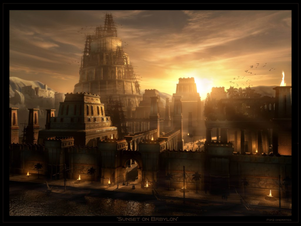 Daugran: Ciudades  y Paises Sunset_on_babylon_by_raphael_lacoste