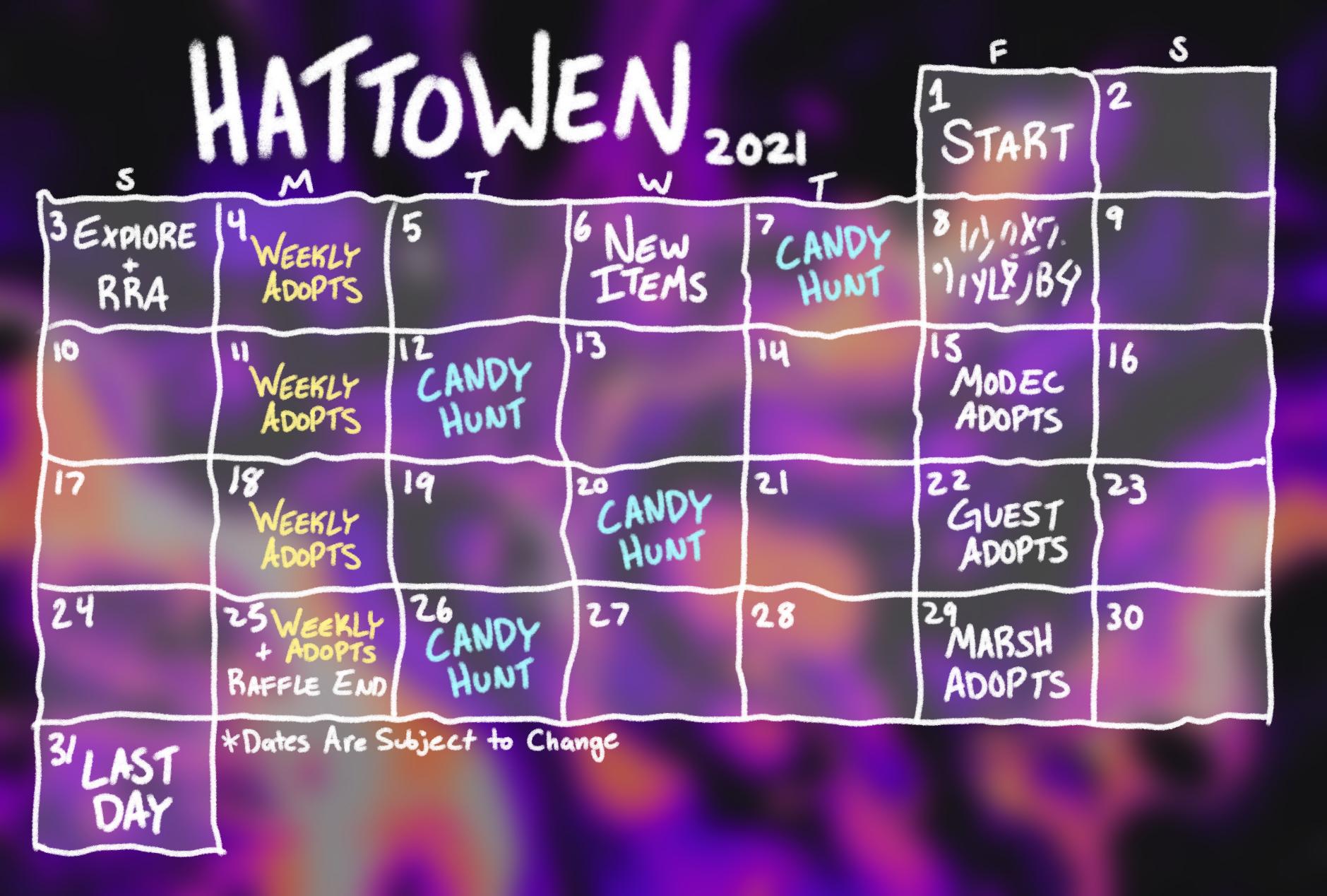 Hattowen event 2021 release calender