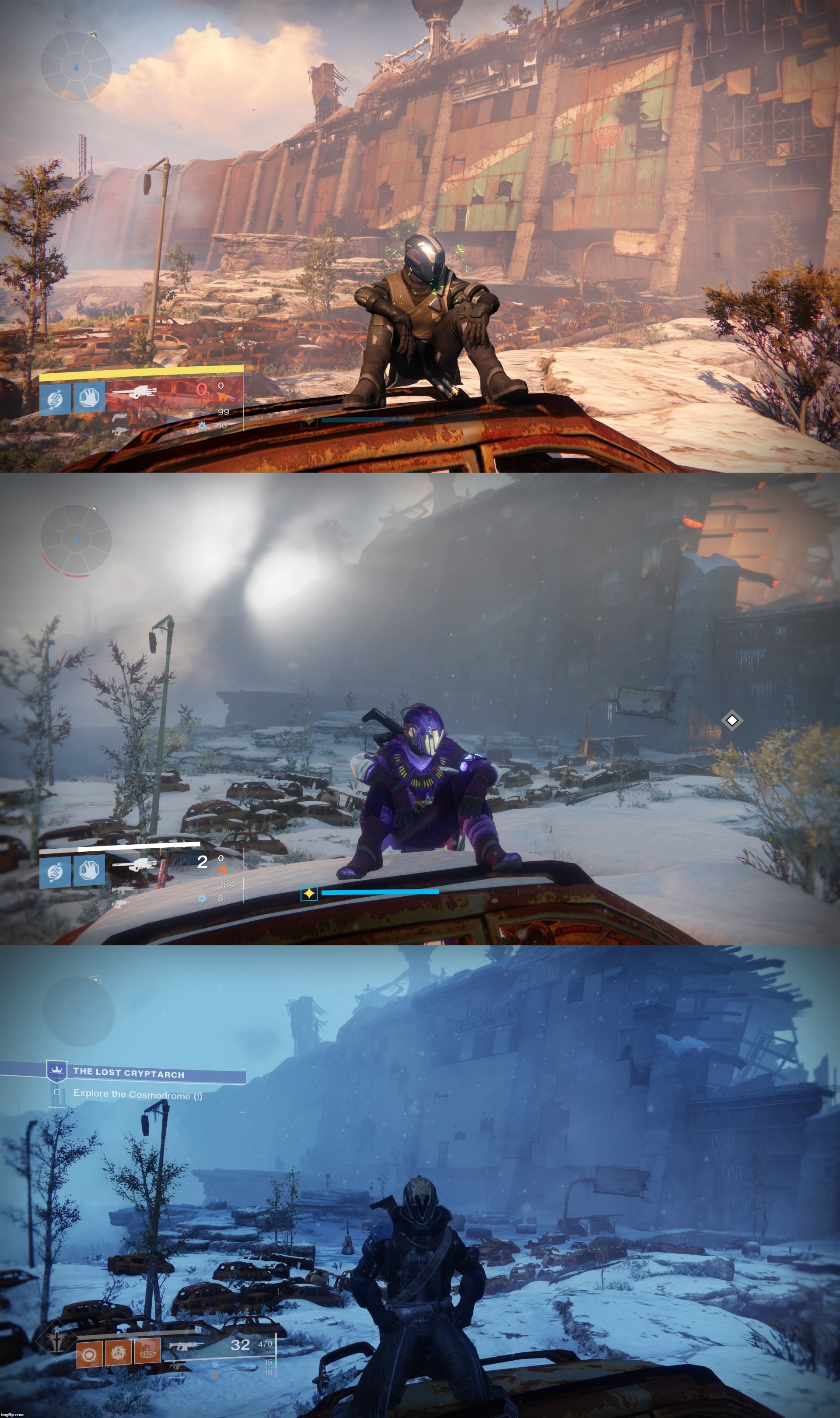 Cosmodrome; Before, then and now.