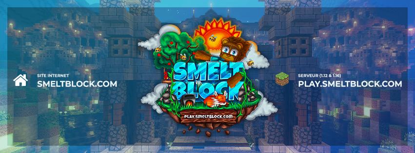 SmeltBlock est un SkyBlock en 1.12 et 1.15 qui proposent enfin un serveur de qualité et pensé pour la communauté