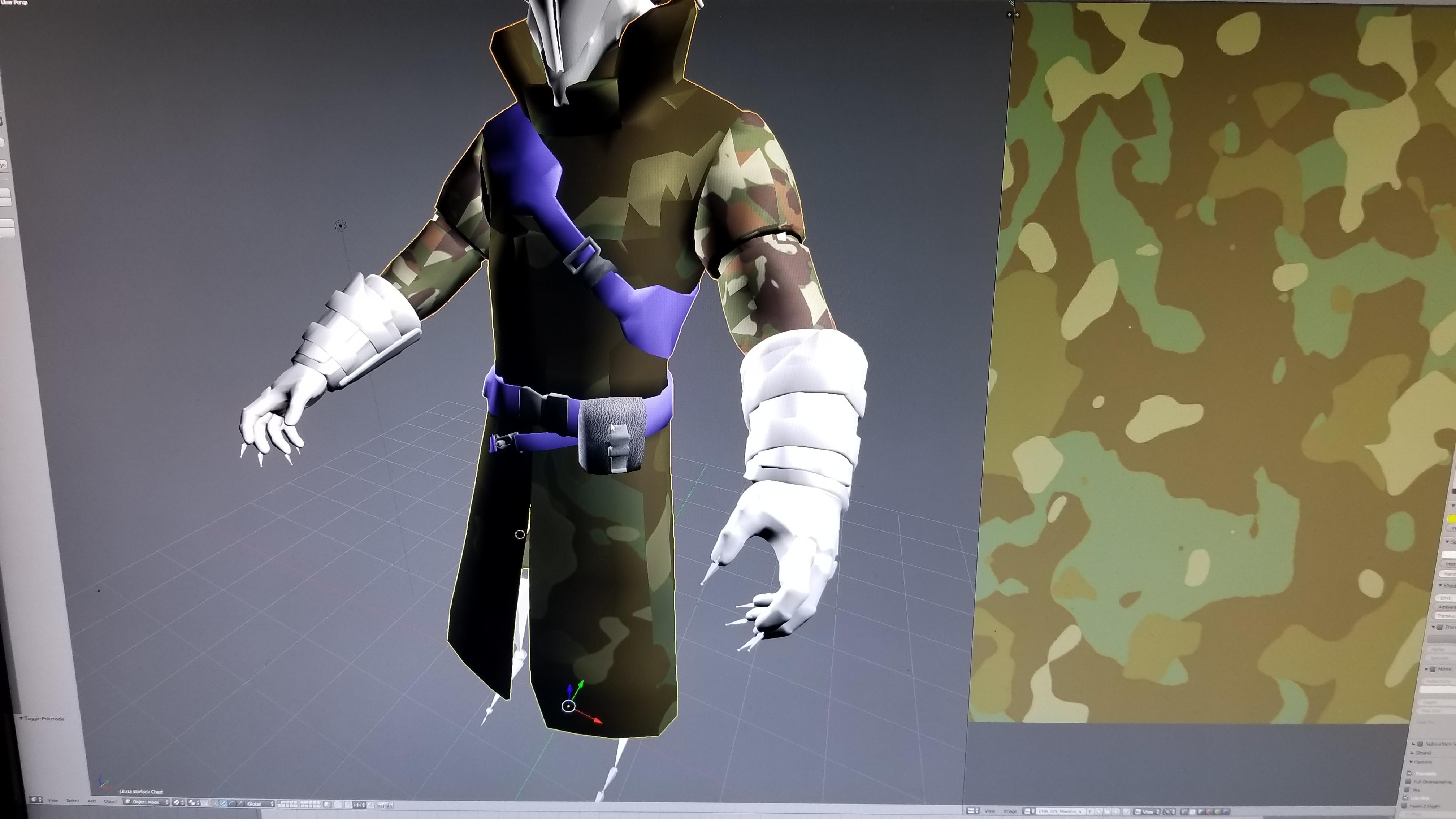 W.I.P. Warlock Model