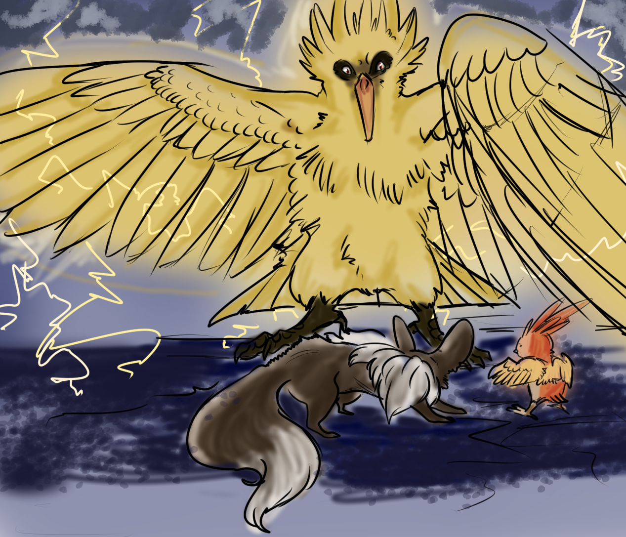Zapdos Battle