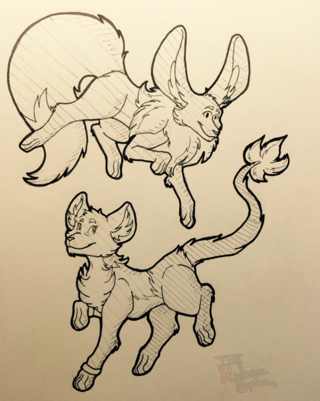 Milo and Linh Inktober
