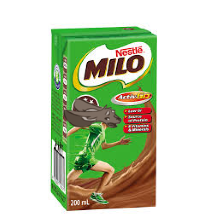 Milo's a drink apparently?