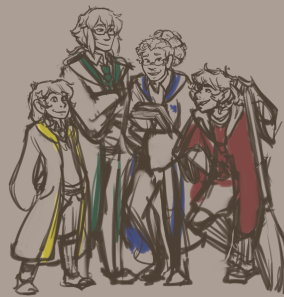 Harry Potter AU (plus Nathan and Linh)