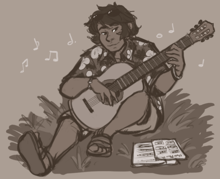 Milo Learns Guitar In Alola