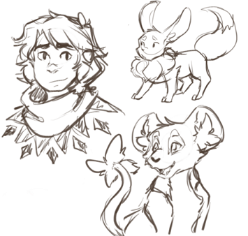 Some old Milos sketches plus Linh