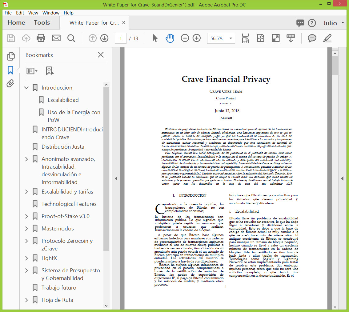 Spanish White Paper