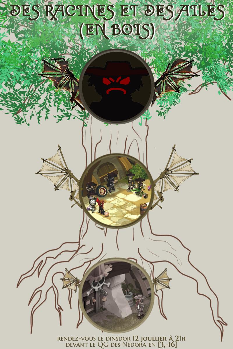 Des racines et des ailes (en bois) Affichetrame3