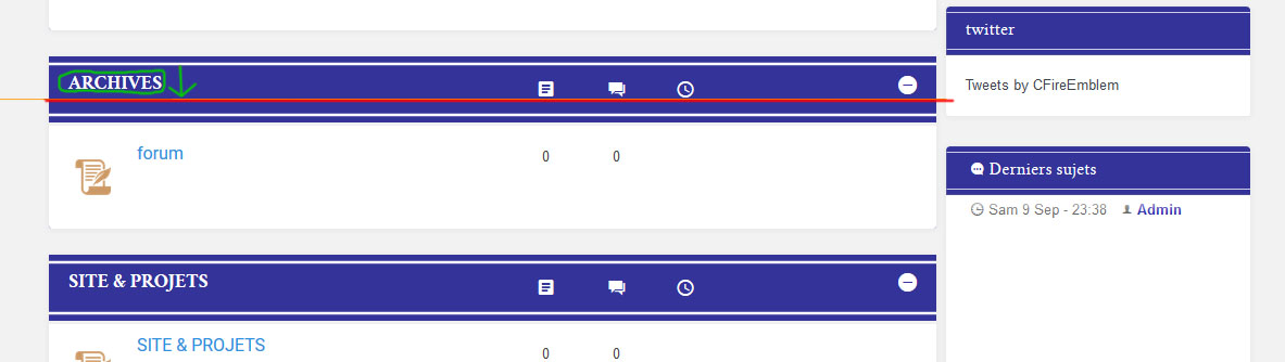 Aligner titre et icones des catégories au milieu du fond titre Screen_probleme_ligne