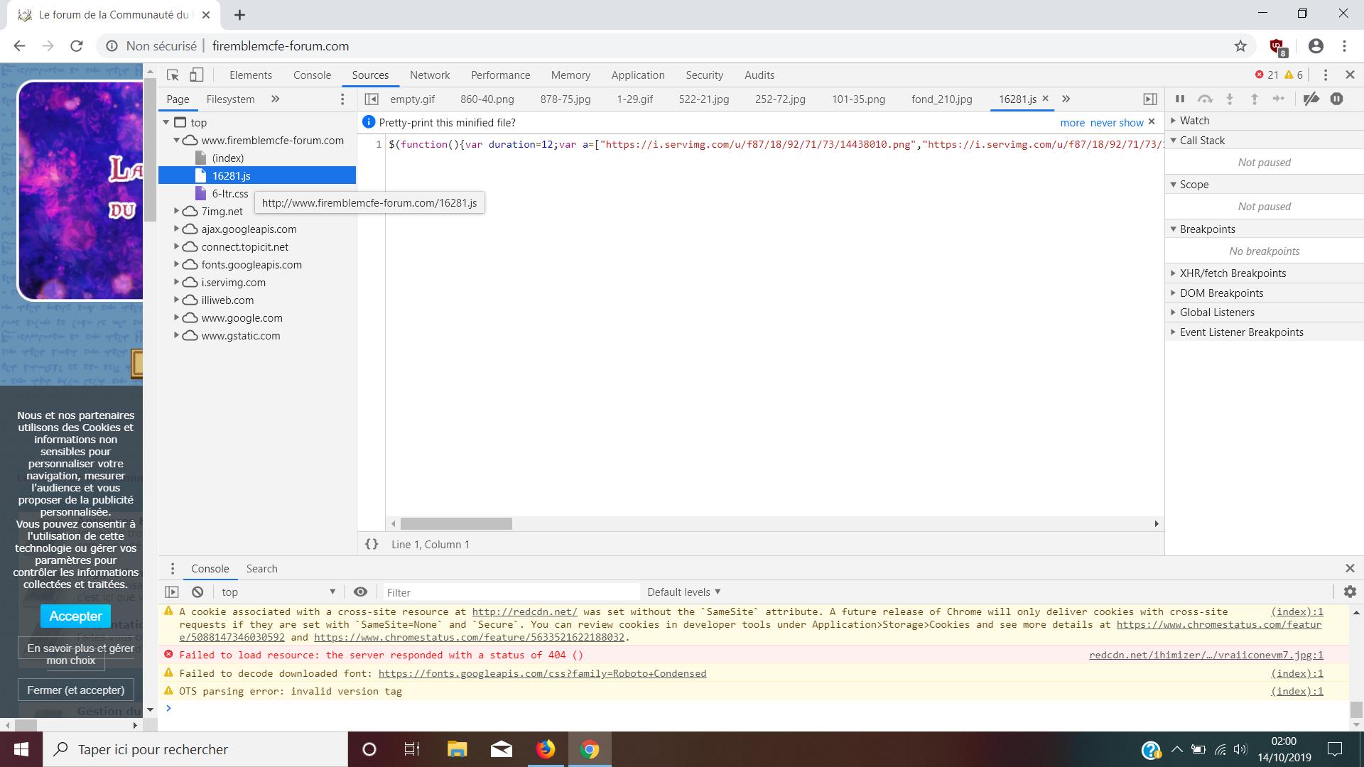 Basculer un lien http.js en HTTPS Unknown