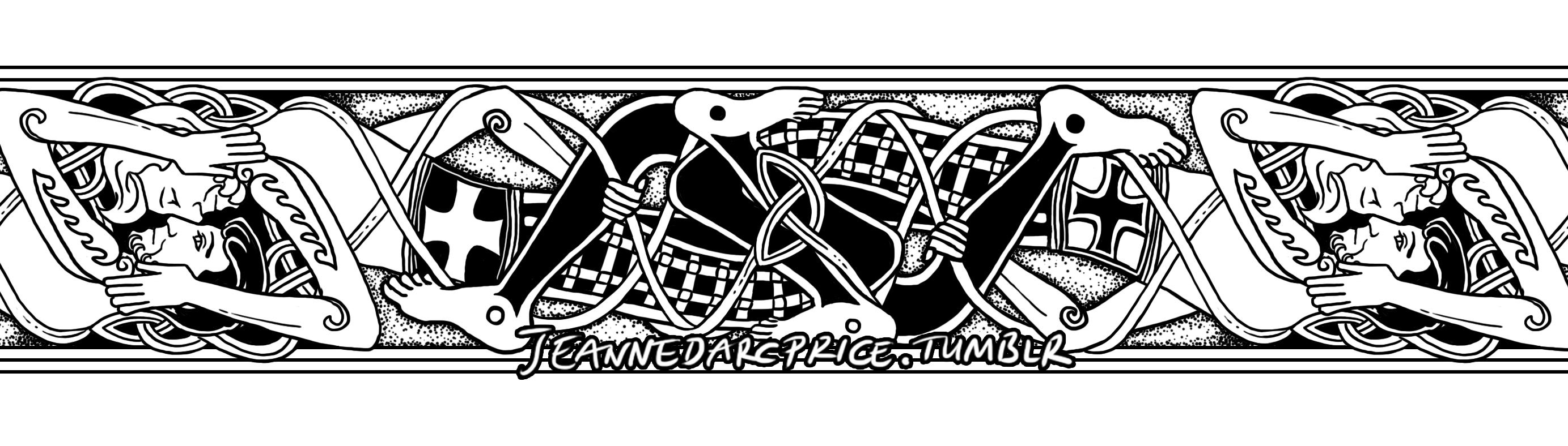Tattoo band of Celtic design