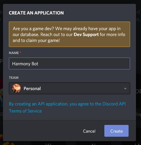Create App Modal