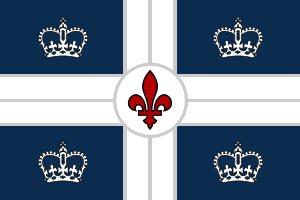 The Flag of the Royaume Uni de Lourenne