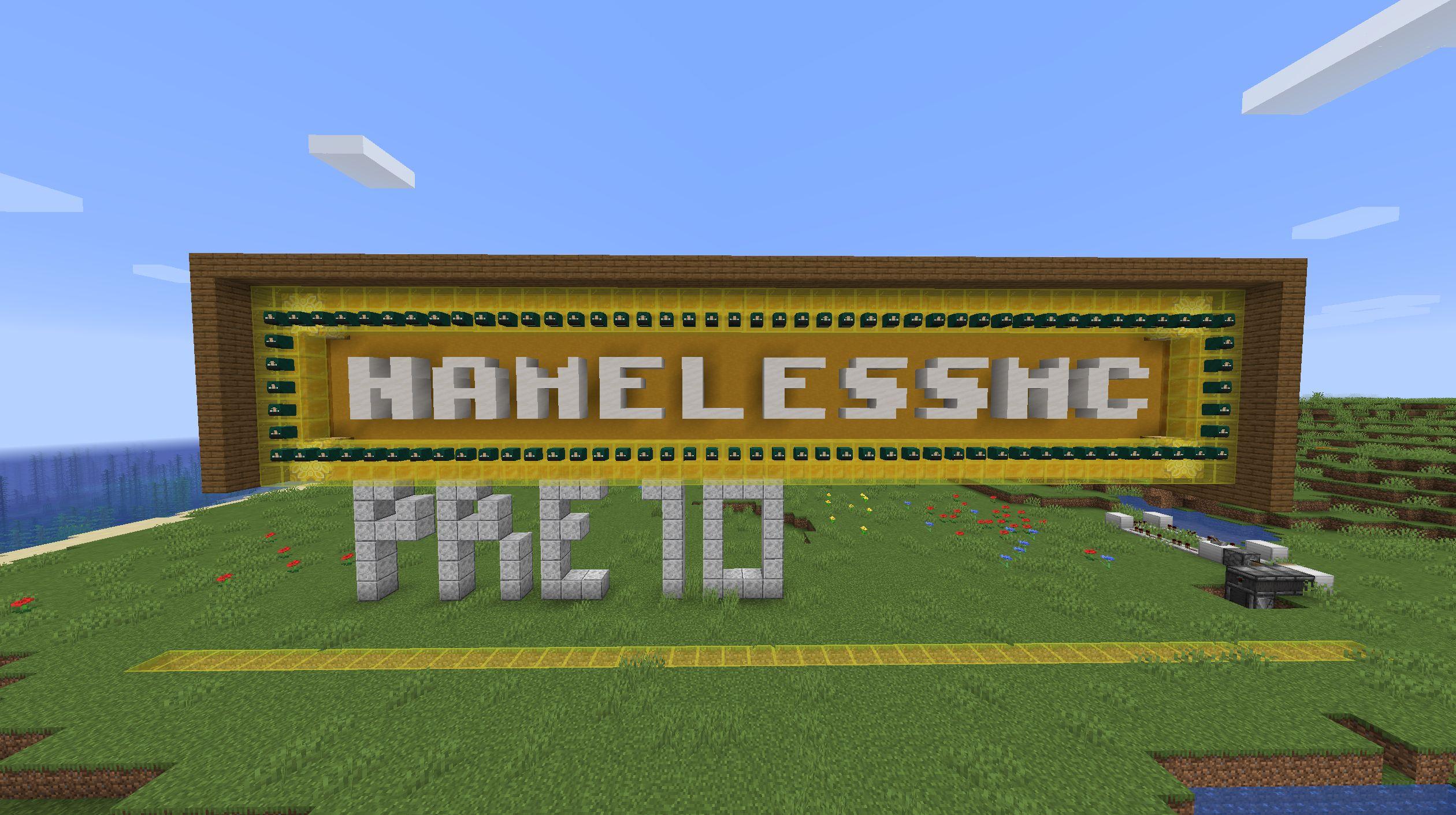 NamelessMC Pre10 text in minecraft