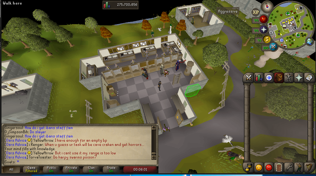 (WORLD_314 Seers Bank)Are you afk or bank standing???? Unknown