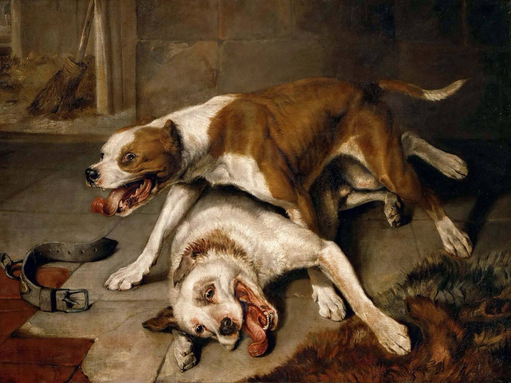 Fighting_dogs_catching_their_breath_-_painting.jpg