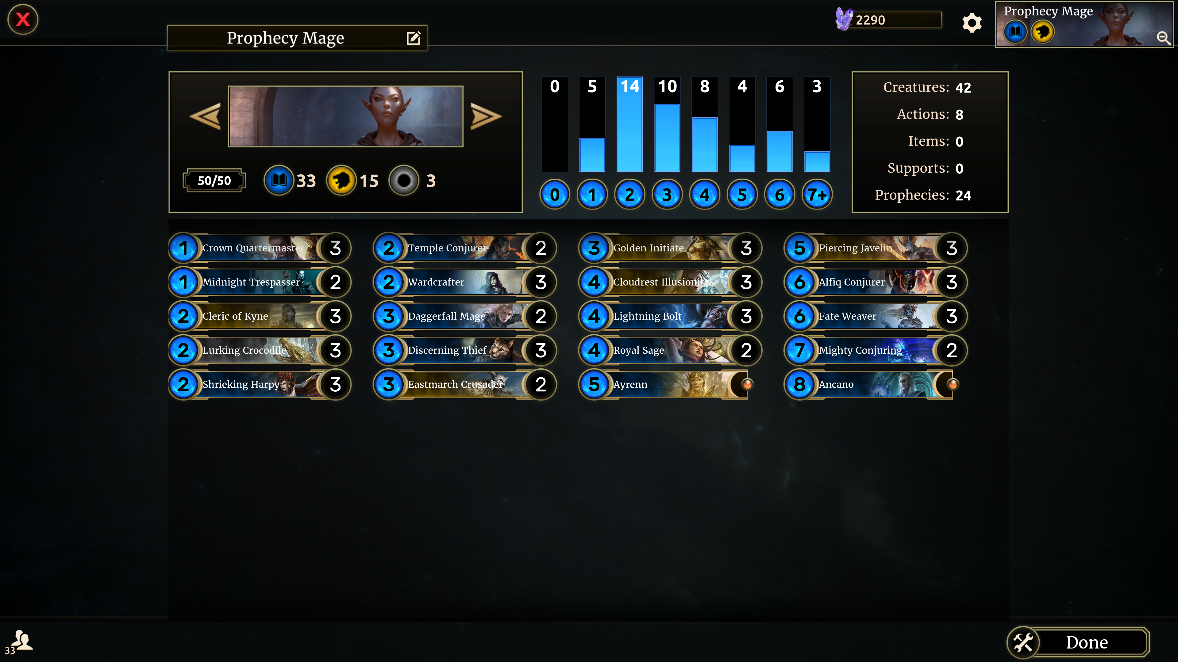 Prophecy Mid-Mage List