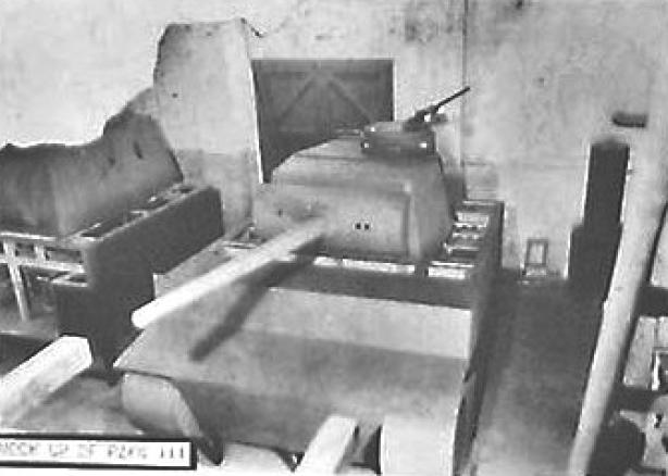 Prototype turret mock up