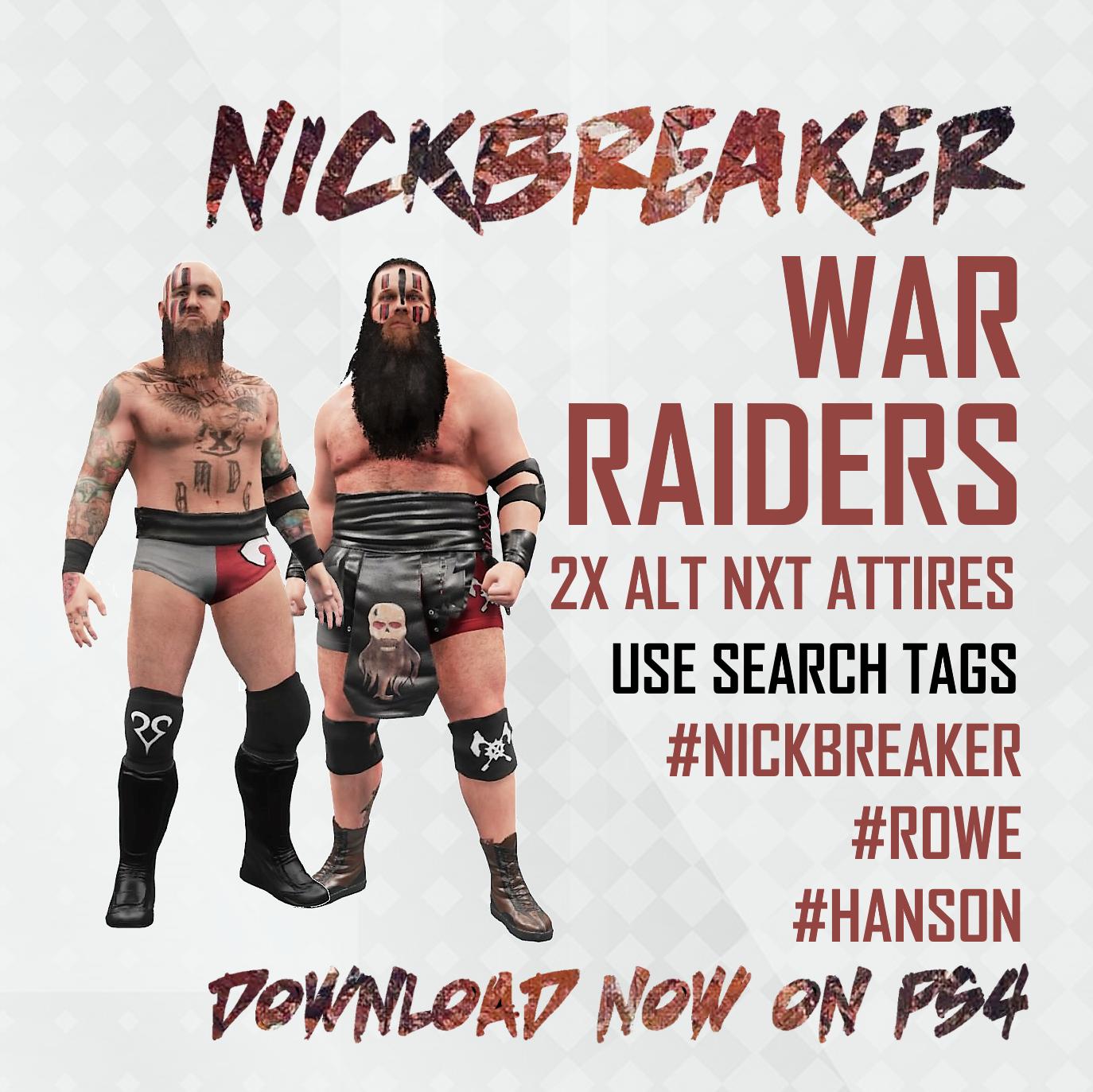 NICKBREAKER.WWE.2K18.2K19.2K20.NXT.ROH.T
