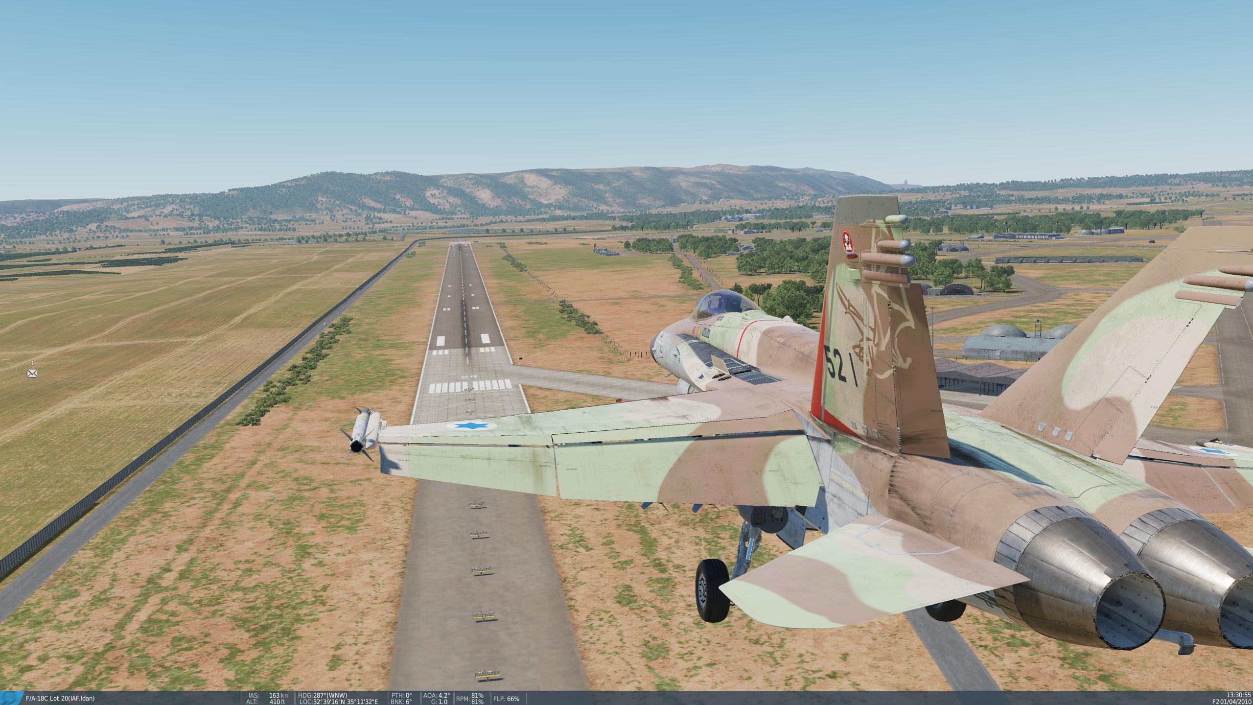 """עידן בנחיתה על מסלול 29 רמ""""ד"""