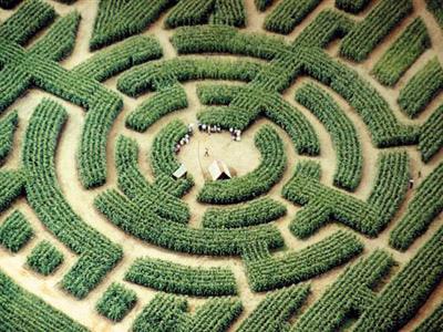 Labyrint v zahradách paláce Labyrint_barvaux