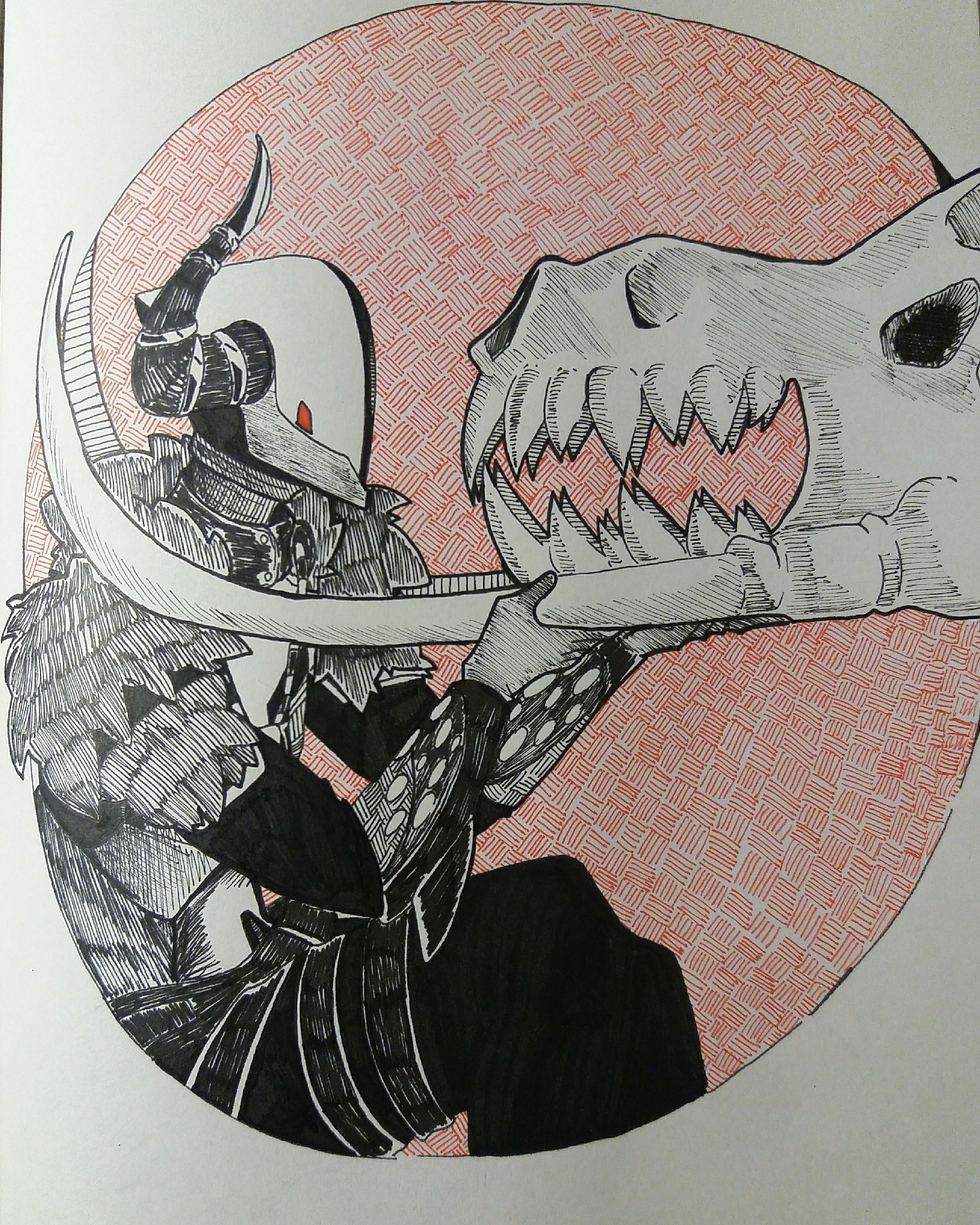 Inktober day12: dragon - little Lord Shaxx tribute