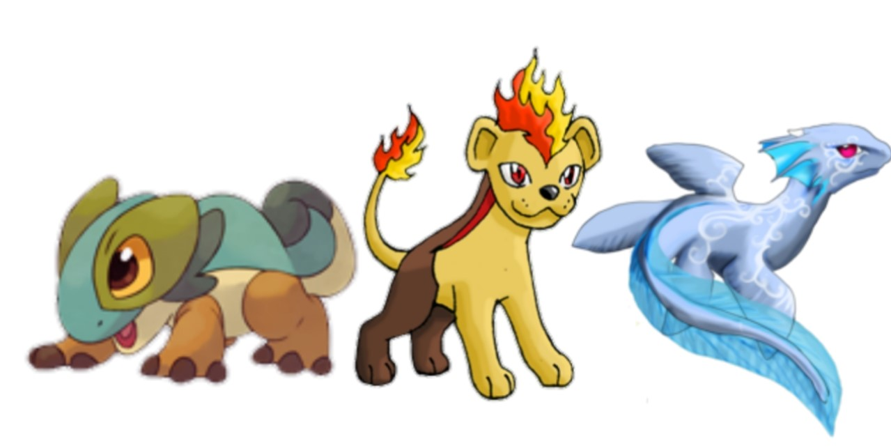 Choose One of Three Exotic Fakemon Starters!