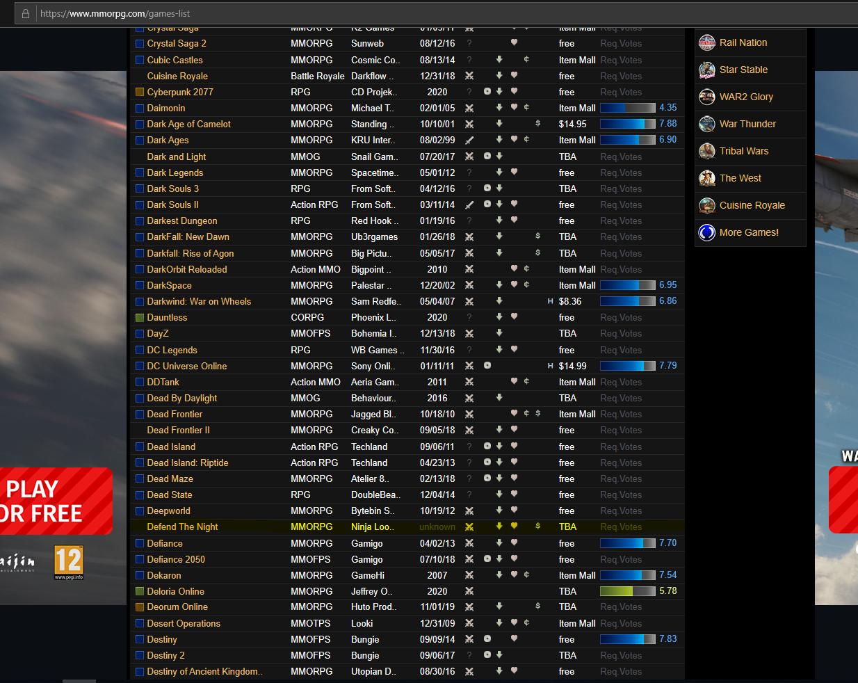 Listing @ MMORPG.COM