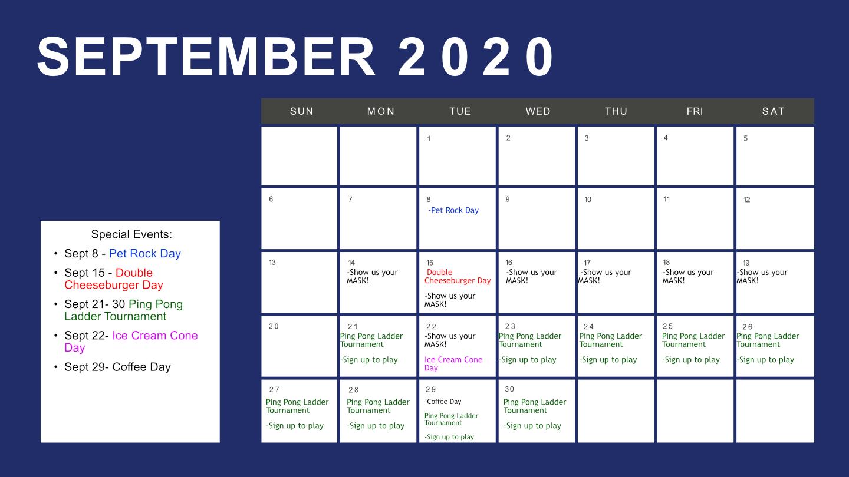 Calendar For Sept