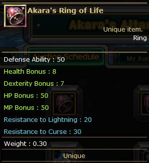 Akara's Ring of Life
