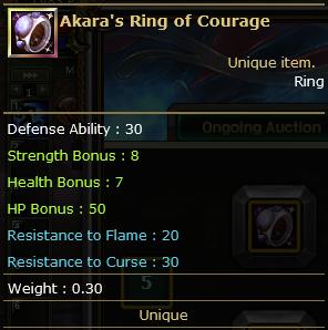 Akara's Ring of Courage
