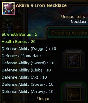 Akara's Iron Necklace
