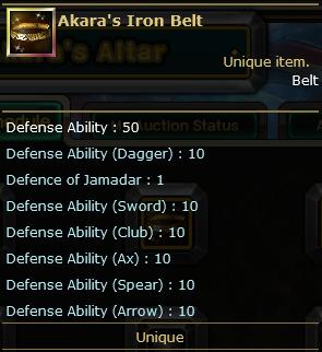 Akara's Iron Belt