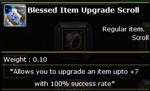 Blessed Item Upgrade Scroll