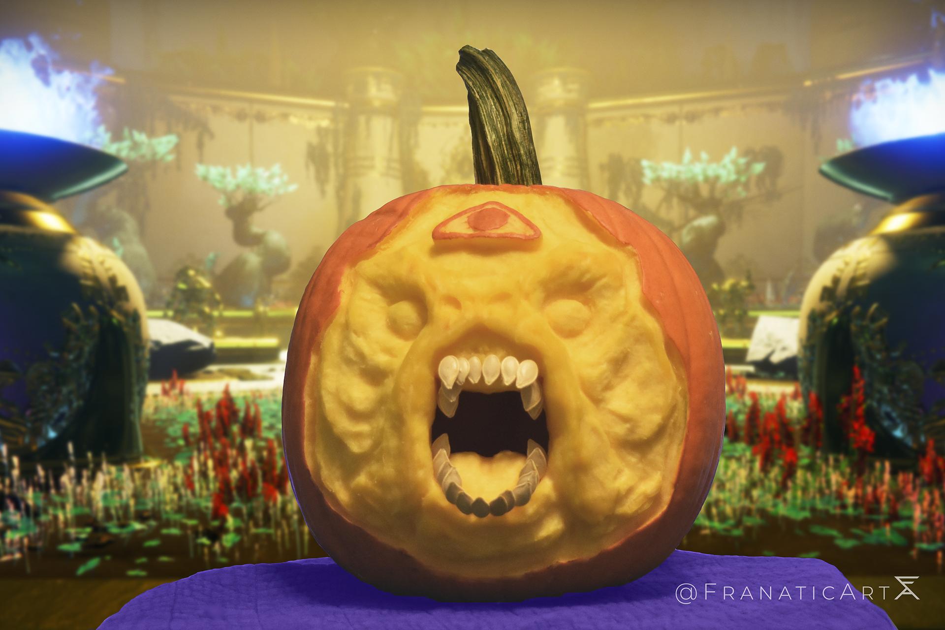 Emperor Calus Pumpkin Carving: Throne Room