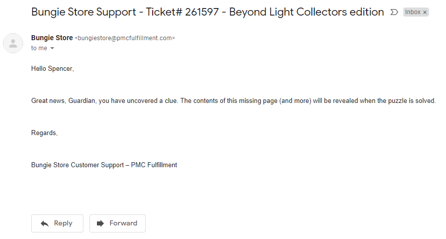 email reponse - Beyond Light ARG - Analyze Site Puzzle - Let's solve this!