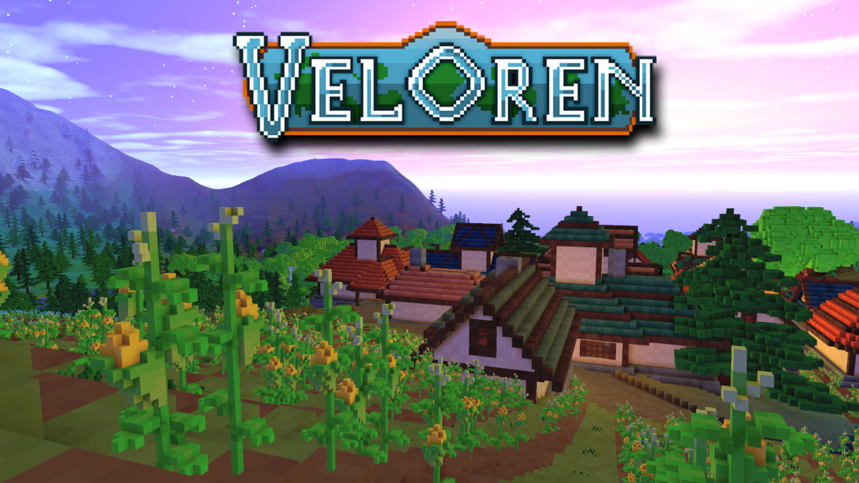 Veloren logo on a screenshot