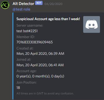 The bot notifies staff