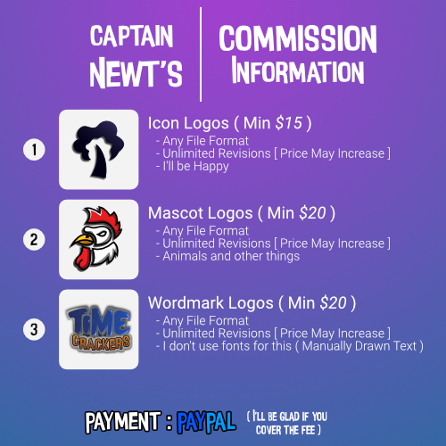 [Discord]Commission Artist: Captain Newt#2871