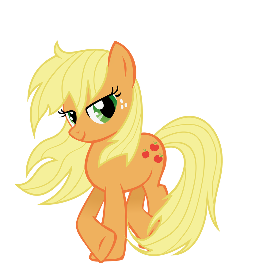 applejack_with_loose_mane_by_tyro_mlp_d7