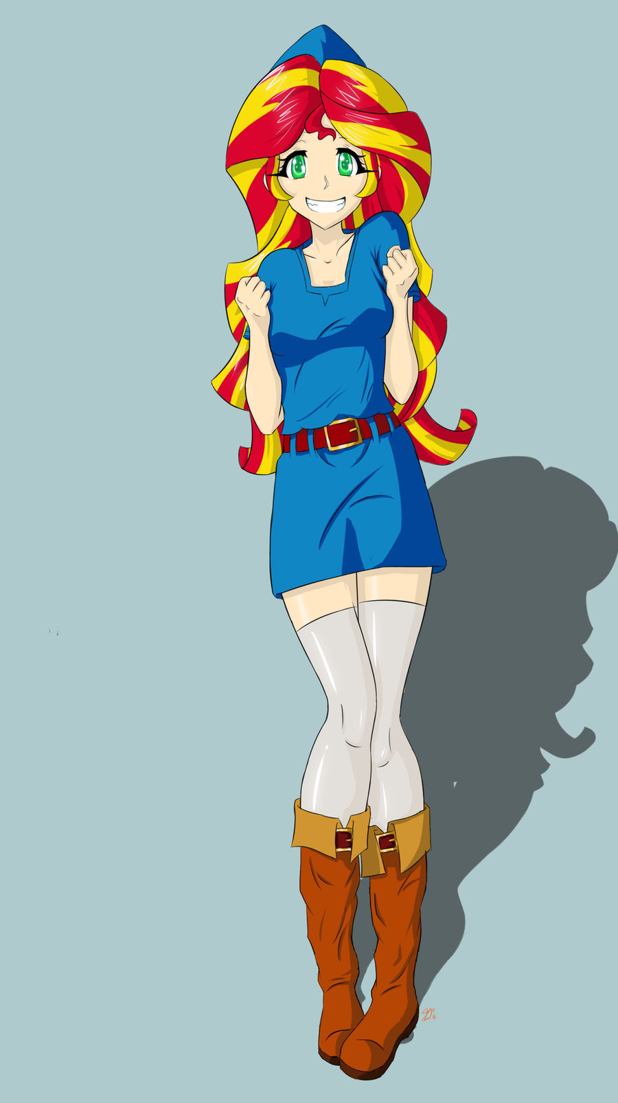 sunset_shimmer_zelda_outfit_by_icesticke