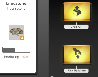 screenshot of the portable miner's interface