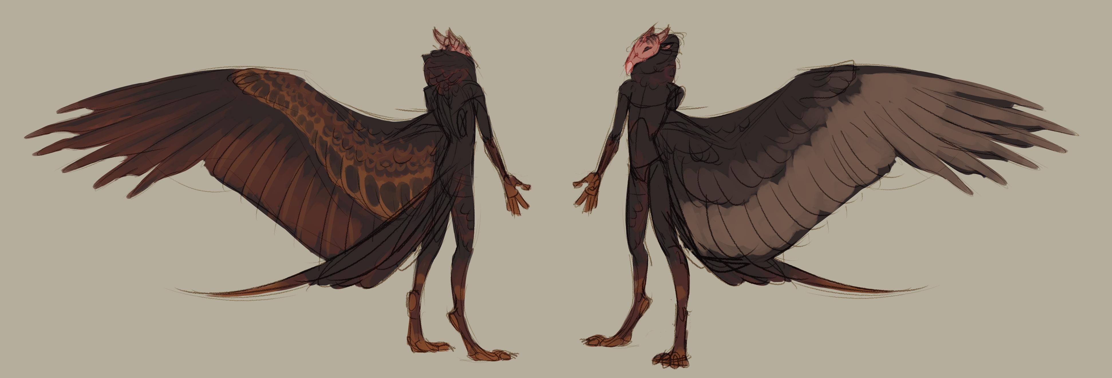 Vulture-like figures